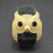 """Bracelet """"Hiboutissime"""" en métal doré et émail"""