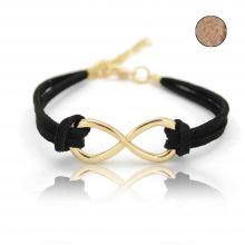 "Bracelet ""Infinity"" en métal et feutrine"