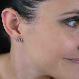 """Boucles d'oreilles fantaisie """"Mini Infinity"""" en métal"""