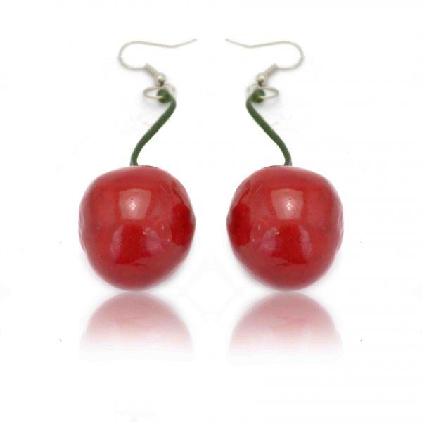boucles d 39 oreilles fantaisie cherry en mousse expans e vernie. Black Bedroom Furniture Sets. Home Design Ideas