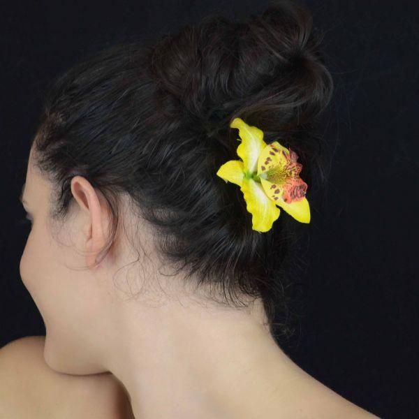 mini pince cheveux orchid e de tha lande en tissu. Black Bedroom Furniture Sets. Home Design Ideas
