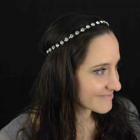 """Headband élastiqué """"Glam"""" en strass"""