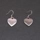 """Boucles d'oreilles """"Coeur"""" en métal plaqué platine"""