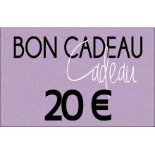 Bon cadeaux - 20 €