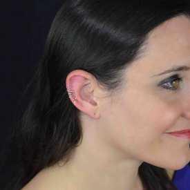 """Boucles d'oreilles """"Wish"""" en métal argenté"""