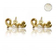 """Boucles d'oreilles """"Love"""" en métal et perle"""