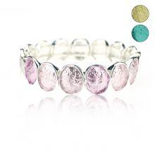 """Bracelet """"Ikita - Aquarelle"""" en métal peint"""