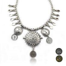 "Collier ""Tribal Style - Khaleegy"" en métal et strass"