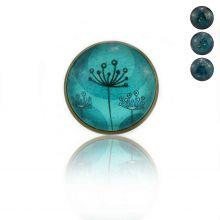 """Bague """"Sweet nature - Dandelion"""" en métal bronze et cabochon de verre"""