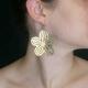 """Boucles d'oreilles """"Polymnie"""" en métal doré et argenté   Les Bijoux de Camille, bijoux fantaisie pas cher"""
