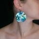 """Boucles d'oreilles """"Blue Japan"""" en aluminium   Les Bijoux de Camille, bijoux fantaisie pas cher"""
