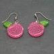 """Boucles d'oreilles """"Acryl - Pomme"""" en acrylique   Les Bijoux de Camille, bijoux fantaisie pas cher"""