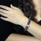 """Bracelet """"Shamballa - Perles d'acier"""" en perles et strass   Les Bijoux de Camille, bijoux fantaisie pas cher"""