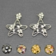 """Boucles d'oreilles fantaisie """"Star"""" en métal et strass"""