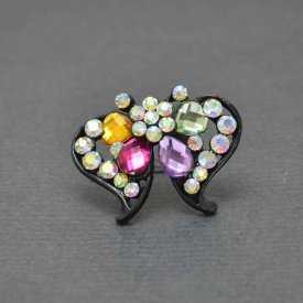 """Bague """"Butterfly"""" en métal argenté et strass   Les Bijoux de Camille, bijoux fantaisie pas chers"""