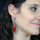 """Boucles d'oreilles fantaisie """"Baroque"""" en métal argenté, résine et strass   Les Bijoux de Camille, bijoux fantaisie pas chers"""