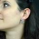 """Boucles d'oreilles fantaisie """"Papillon"""" en métal argenté et strass à reflets   Les Bijoux de Camille, bijoux fantaisie pas chers"""