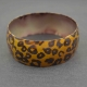 "Bracelet fantaisie ""Colored Leopard"" en résine"