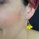 """Boucles d'oreilles """"Fruits - Banana"""" en pâte fimo   Les Bijoux de Camille, bijoux fantaisie pas cher"""