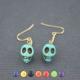 """Boucles d'oreilles """"Skull"""" en pierre"""