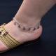 """Bracelet de cheville """"Paix Paix Paix !"""" en métal argenté   Les Bijoux de Camille, bijoux fantaisie pas cher"""