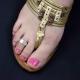 """Bague de pied """"Vagues"""" en métal   Les Bijoux de Camille, bijoux fantaisie  pas cher"""