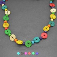 collier fantaisie colore