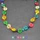 """Collier fantaisie """"Africa 3"""" en perles de bois"""