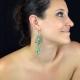 """Boucles d'oreilles orientales """"Yasmine"""" en métal doré, résine et strass   Les Bijoux de Camille, bijoux fantaisie pas cher"""