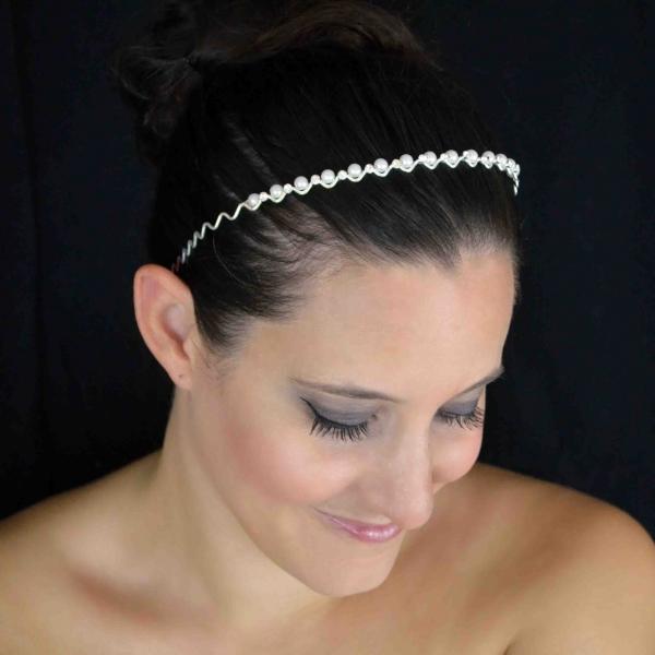 serre t te bijou de cheveux mariage ivoire fleur et plumes. Black Bedroom Furniture Sets. Home Design Ideas
