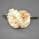 "Barrette ""Foliflower"" en tissu   Les Bijoux de Camille, bijoux fantaisie pas cher"