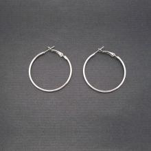 Créoles 5 cm en métal argenté | Les Bijoux de Camille, bijoux fantaisie pas cher