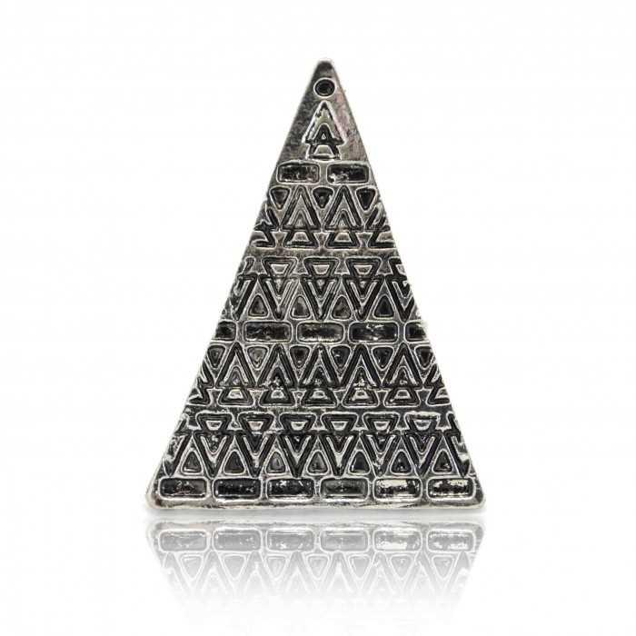 "Bague fantaisie ""Triangle"" en métal"