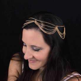 "Headband ""Occident"" en métal"