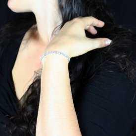 """Bracelet élastiqué """"Luz"""" 1 rang en strass"""