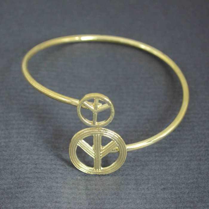 """Bracelet fantaisie """"Multiple Peace"""" en métal"""
