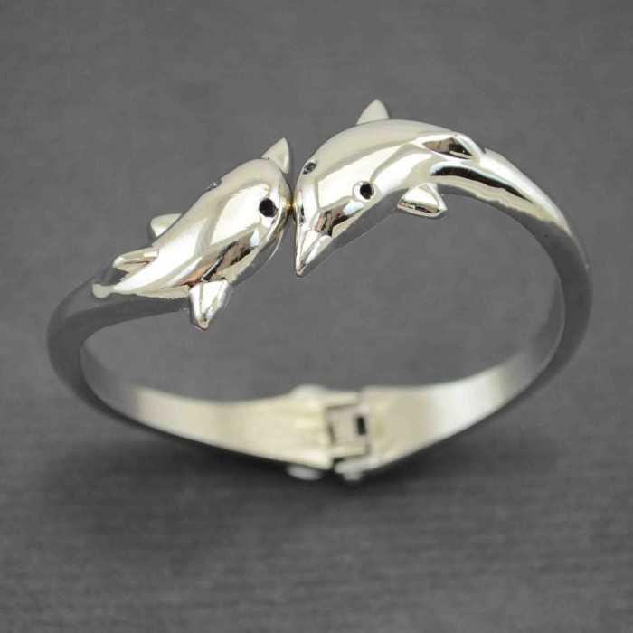 """Bracelet """"Delphine"""" en métal argenté"""