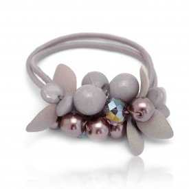 "Élastique ""Garden"" perles et tissu"