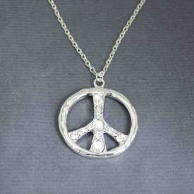"Collier ""Bright Peace"" en métal et strass"