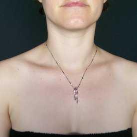 """Collier """""""" en métal argenté et strass   Les Bijoux de Camille, bijoux fantaisie pas cher"""