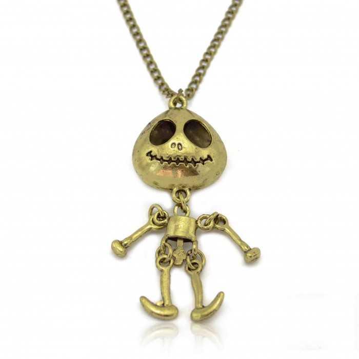 "Collier fantaisie ""Puppet"" en métal doré vieilli"