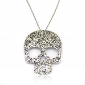 "Collier fantaisie ""Dream Skull"" en métal"