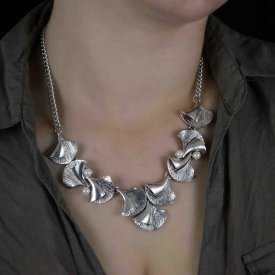 "Collier ""Come Back"" en métal argenté"