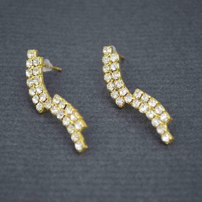 """Boucles d'oreilles """"Voie l'actée"""" en métal et strass"""