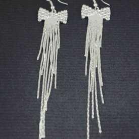 """Boucles d'oreilles """"Claudia"""" en métal argenté et strass"""