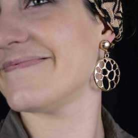 "Boucles d'oreilles fantaisie ""Strong"" en métal"
