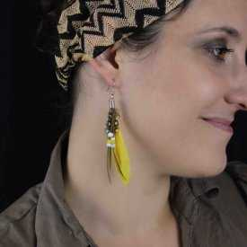 "Boucles d'oreilles ""Plume - Indian Fashion"""