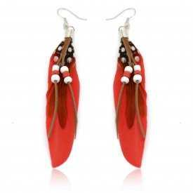 """Boucles d'oreilles """"Plume - Indian Fashion"""""""