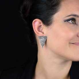 """Boucles d'oreilles fantaisie 'Triangle"""" en métal"""