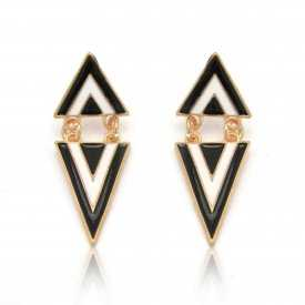 """Boucles d'oreilles """"Triangulo"""" en métal doré"""